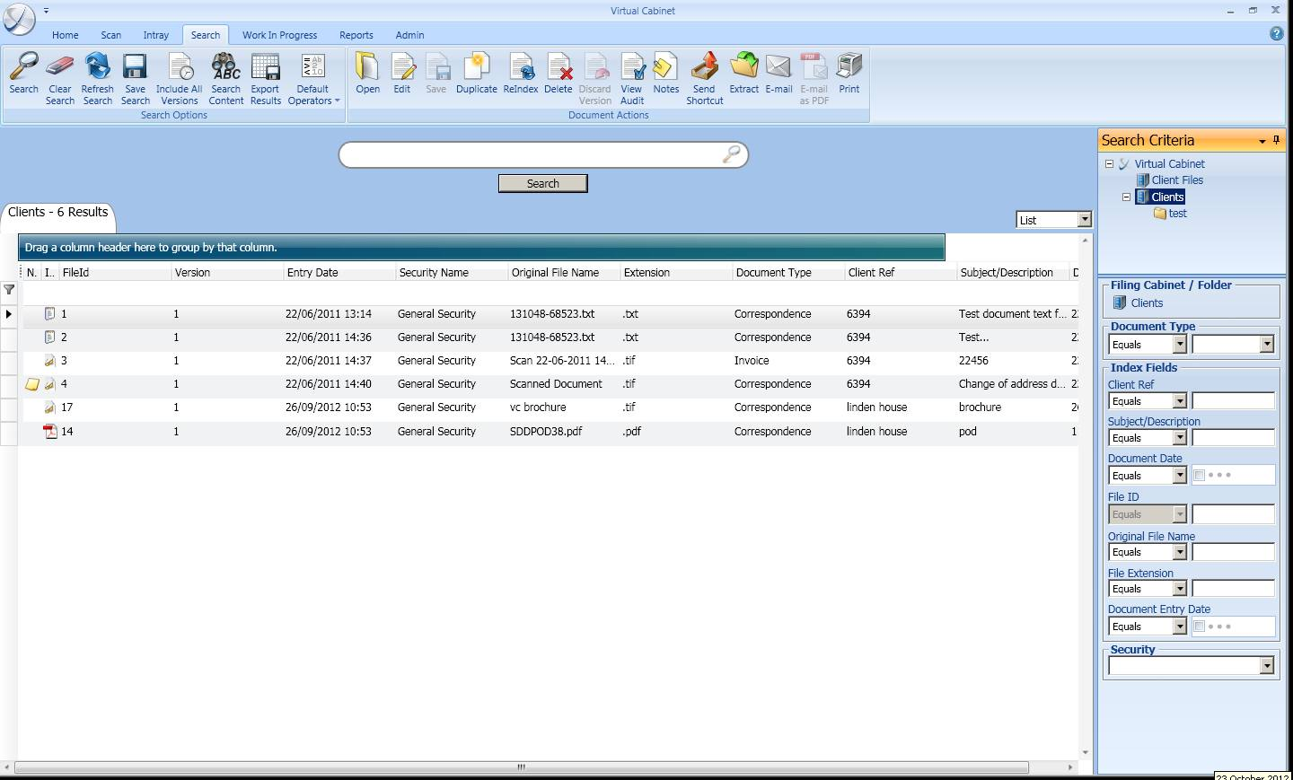Virtual Cabinet Document Management Software, Hosted Document Management